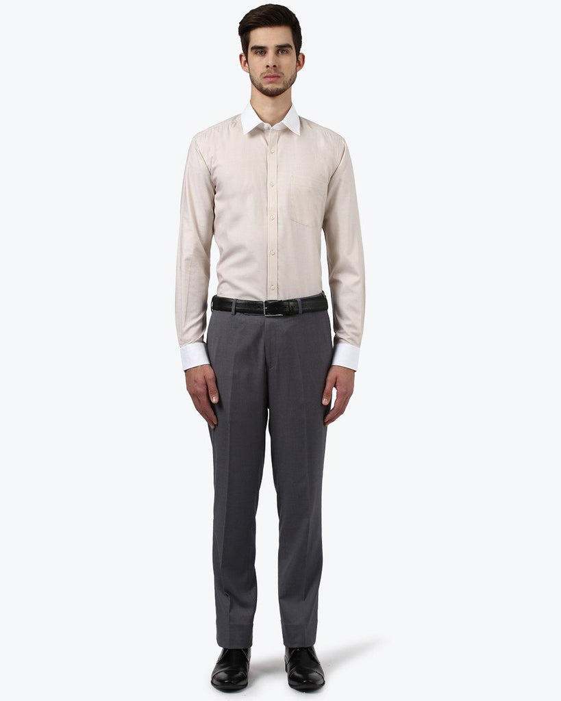 Park Avenue Beige Slim Fit Shirt