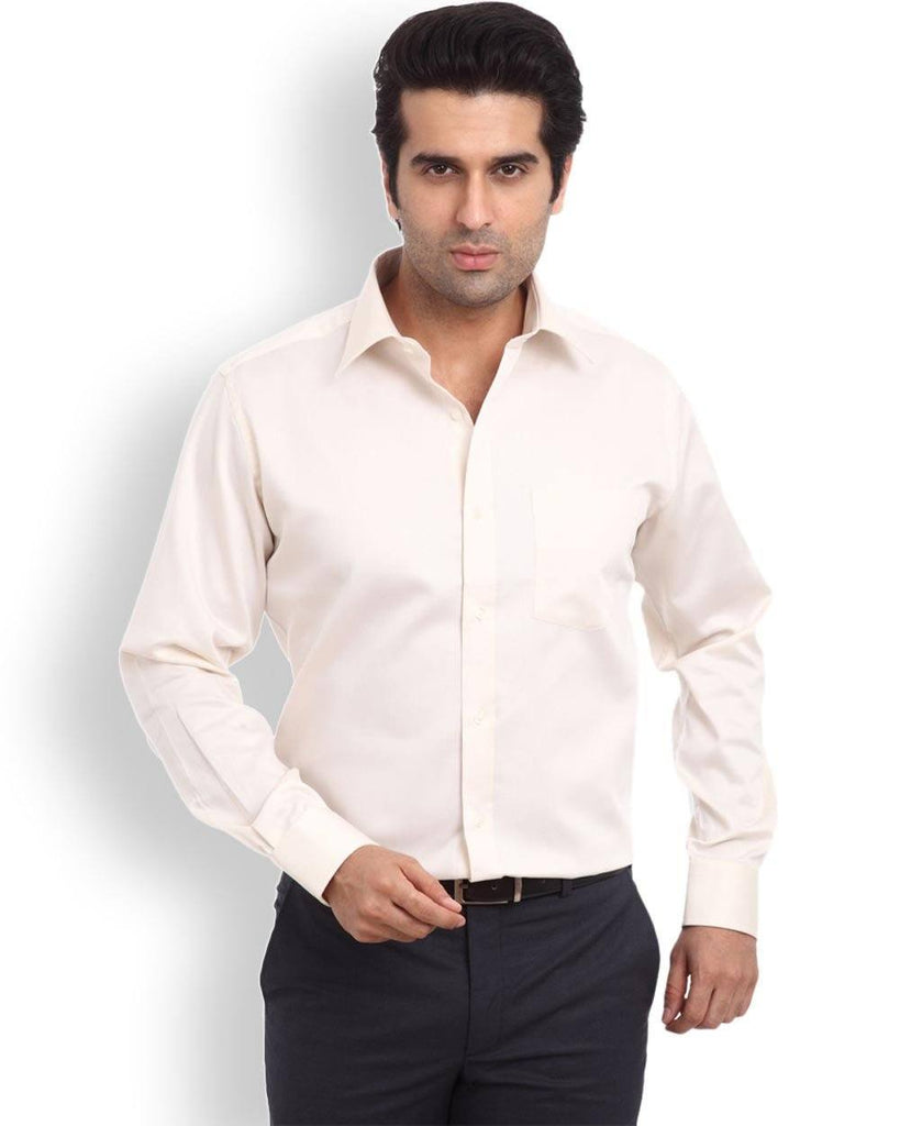 Park Avenue Light Yellow Regular Fit Shirt
