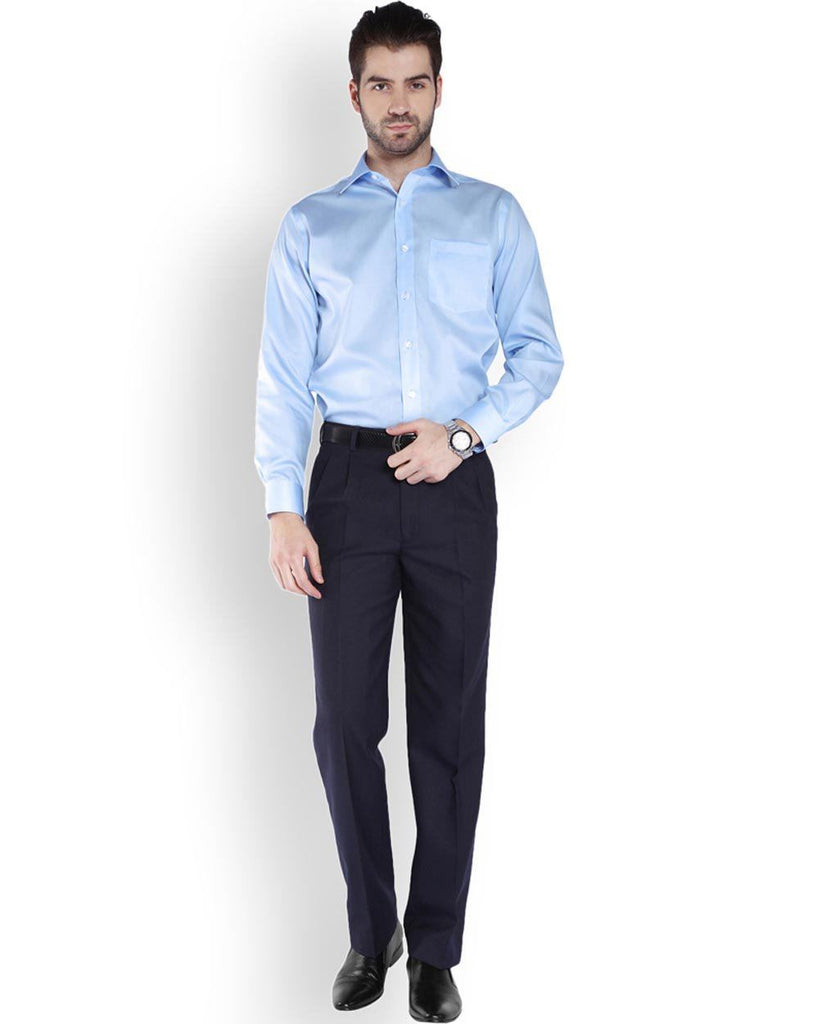Park Avenue  Blue Smart Fit Shirt