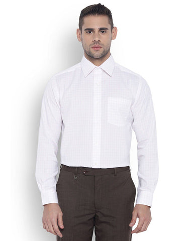 Park Avenue Men Cotton White Regular Fit Shirts