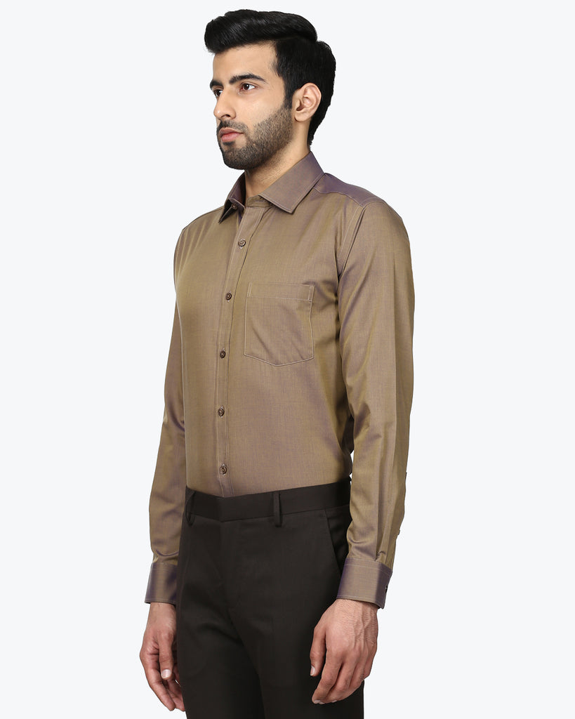 Park Avenue Brown Regular Fit Shirt