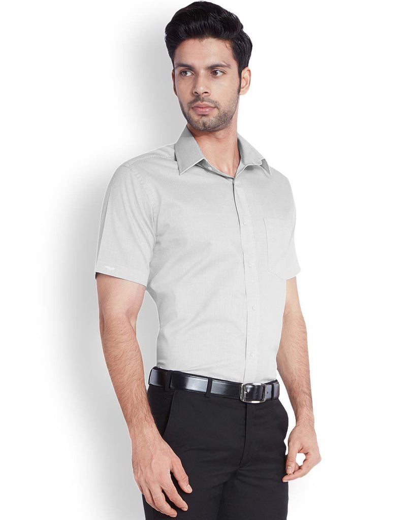 Park Avenue  Grey Regular Fit Shirt