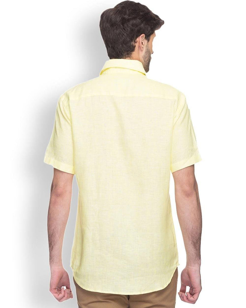 Park Avenue Light Yellow Slim Fit Shirt