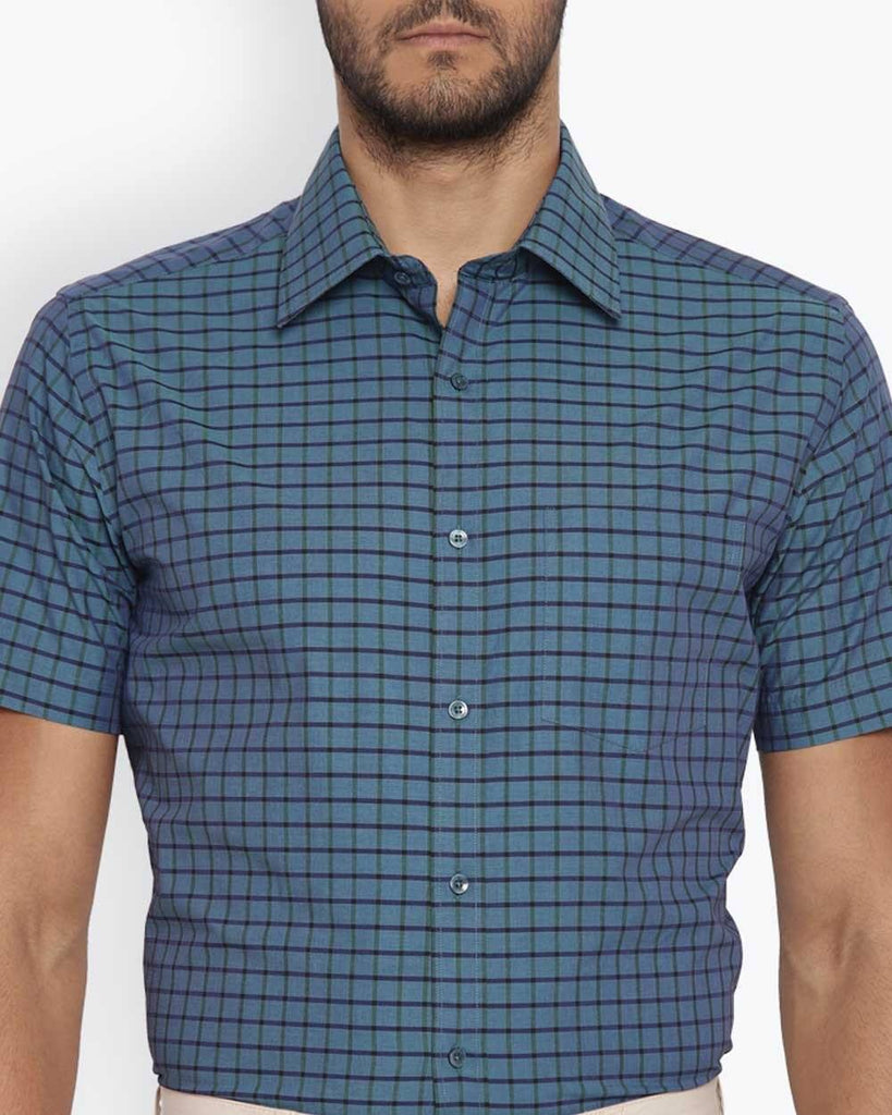 Park Avenue Dark Green Regular Fit Shirt