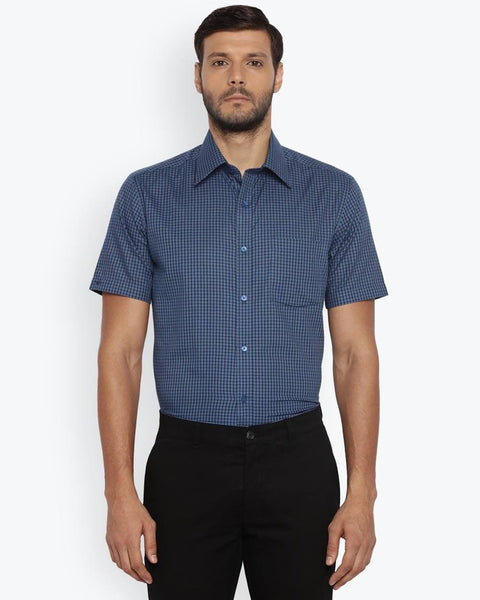 Park Avenue Dark Blue Regular Fit Shirt