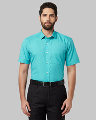 Park Avenue Medium Green Regular Fit Shirt