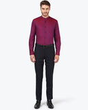 Park Avenue Dark Violet Slim Fit Shirt