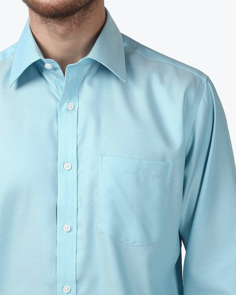 Park Avenue Light Blue Regular Fit Shirt