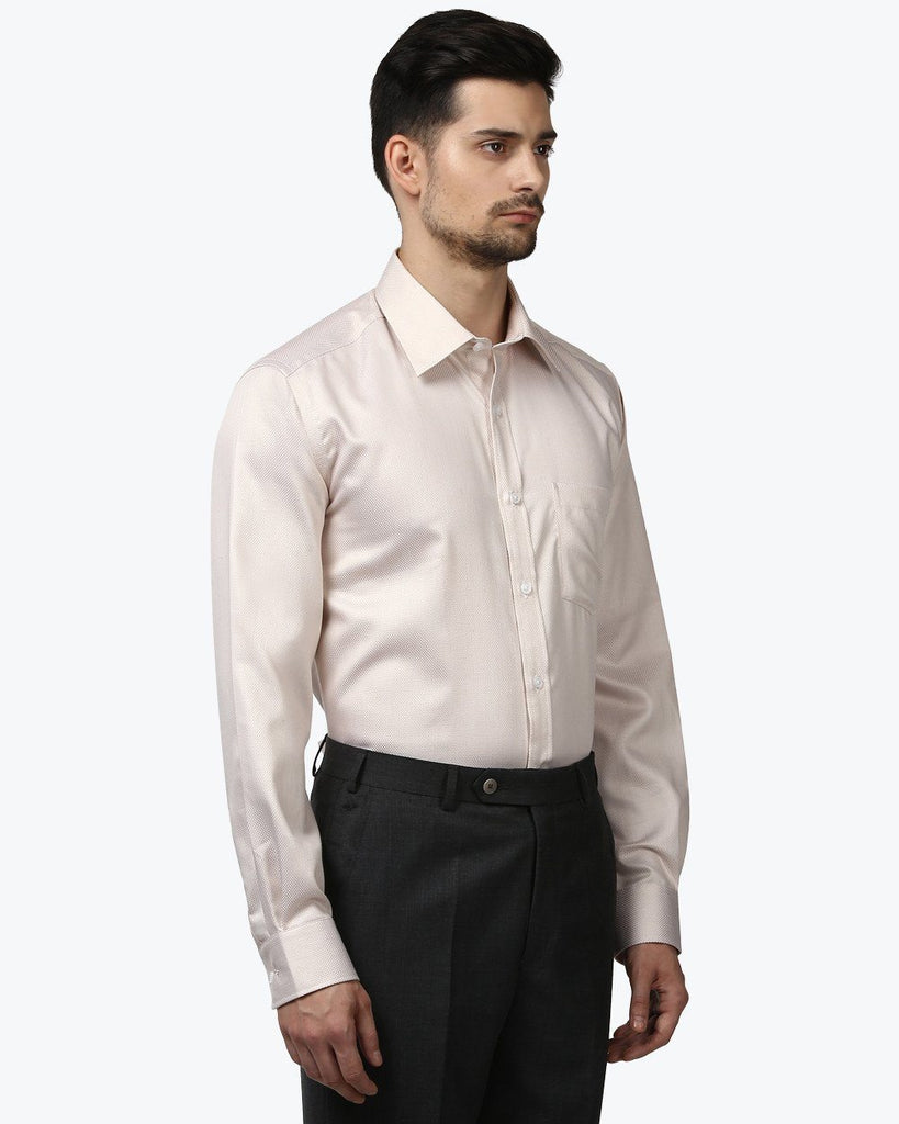 Park Avenue Beige Regular Fit Shirt