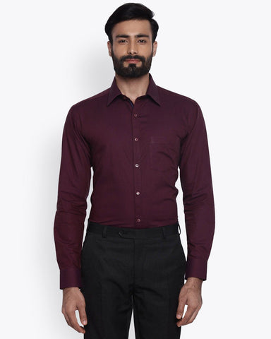 Park Avenue Dark Maroon Super Slim Fit Shirt