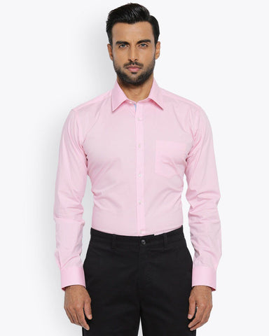 Park Avenue Light Pink Super Slim Fit Shirt