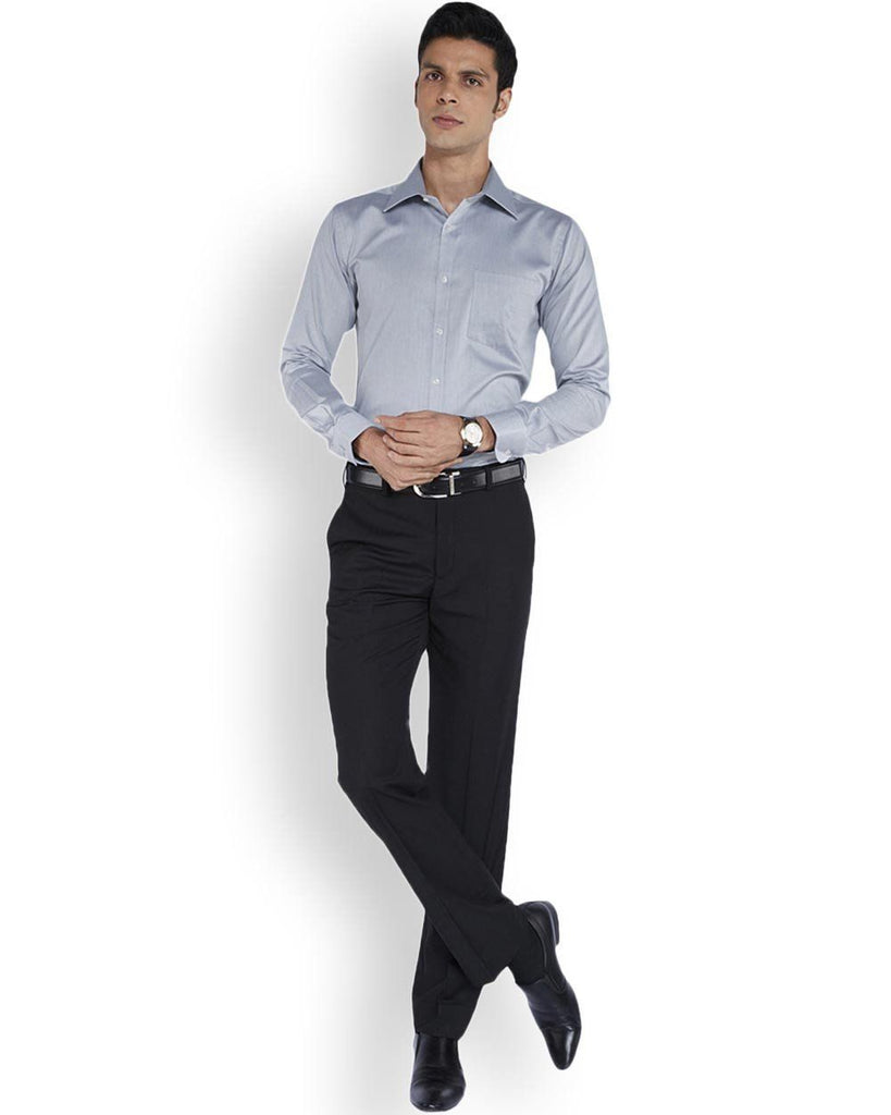 Park Avenue  Grey Slim Fit Shirt