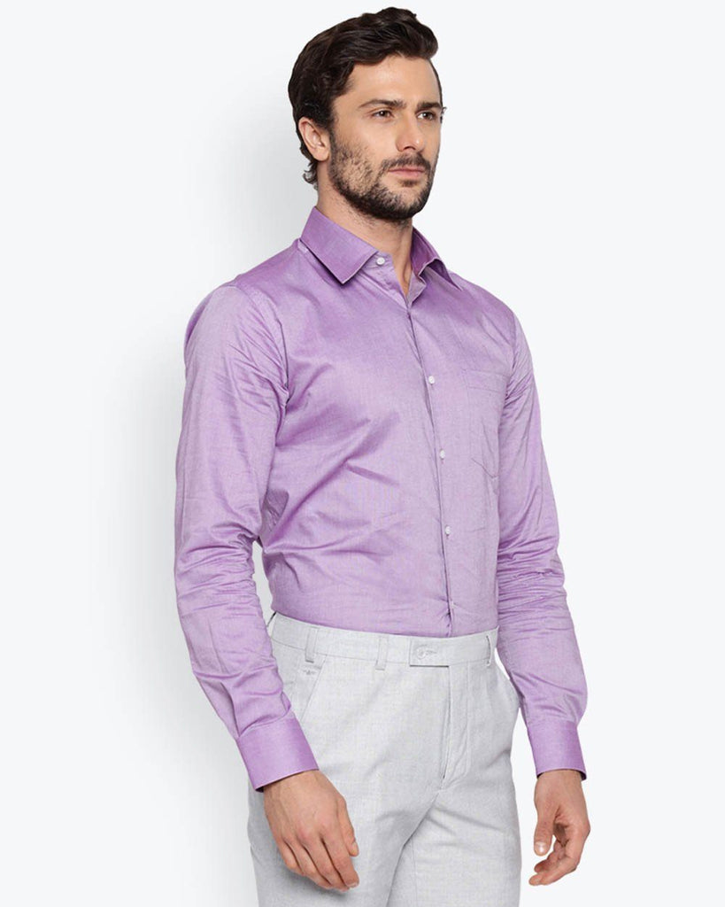 Park Avenue Lavender Slim Fit Shirt