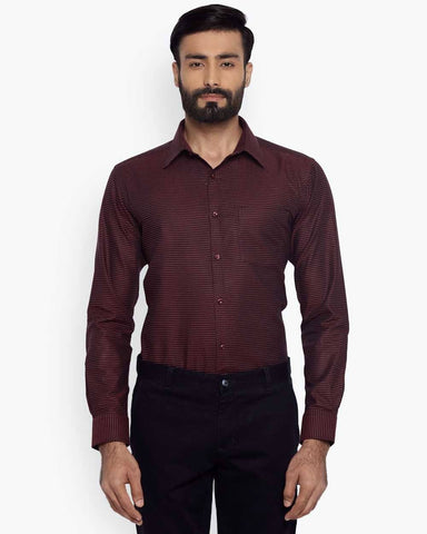 Park Avenue Dark Maroon Slim Fit Shirt