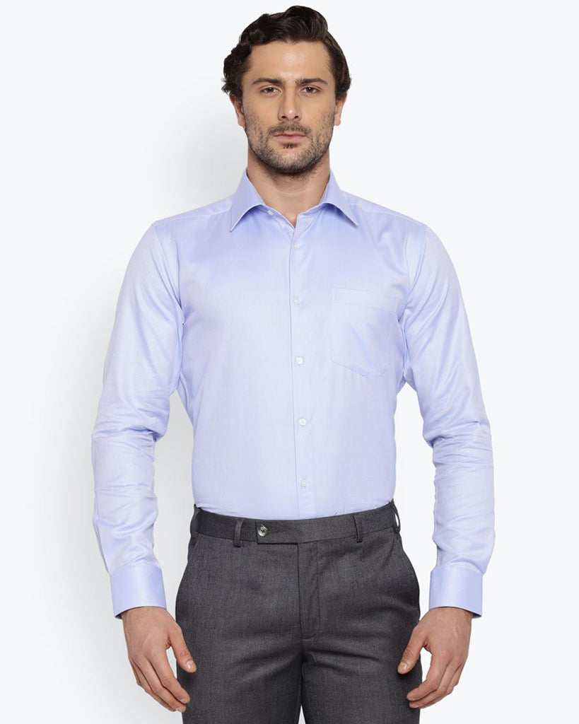 Park Avenue Light Blue Slim Fit Shirt