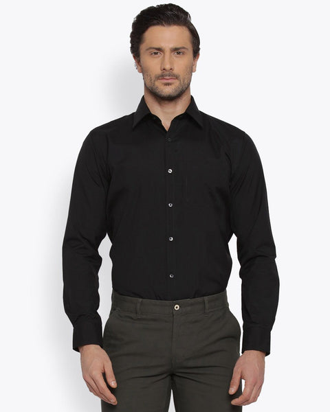 Park Avenue Black Slim Fit Shirt