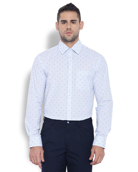 Park Avenue Men Cotton Medium Blue Slim Fit Shirts