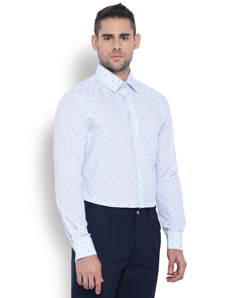 Park Avenue Men Cotton  Blue Slim Fit Shirt