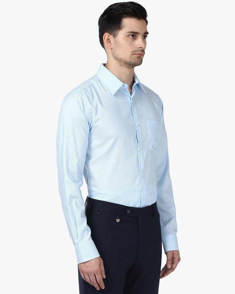Park Avenue Blue Slim Fit Shirt