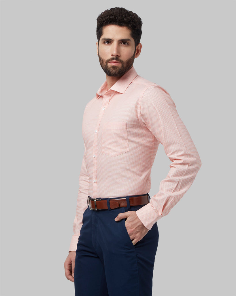 Park Avenue Orange Slim Fit Shirt