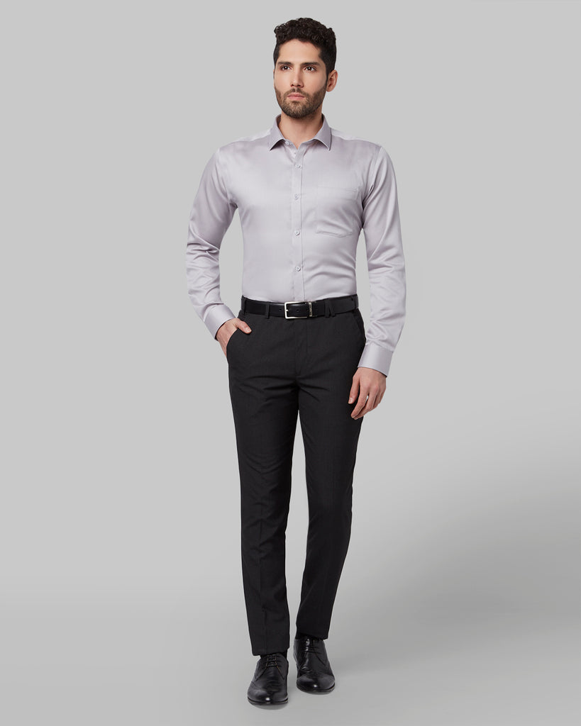 Park Avenue Medium Grey Slim Fit Shirt