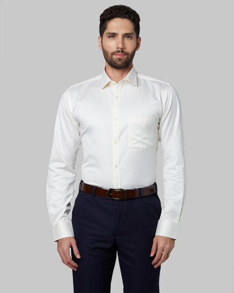 Park Avenue Medium Yellow Slim Fit Shirt