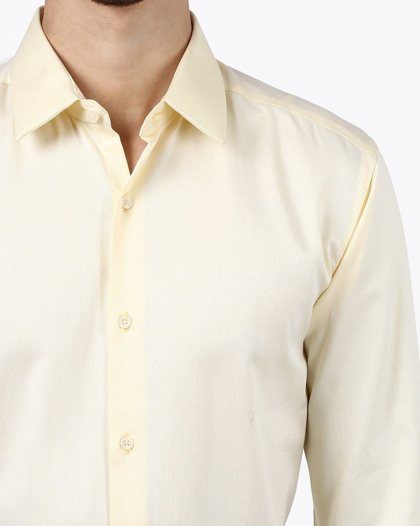 Park Avenue Yellow Super Slim Fit Shirt