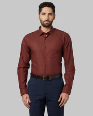 Park Avenue Medium Orange Slim Fit Shirt
