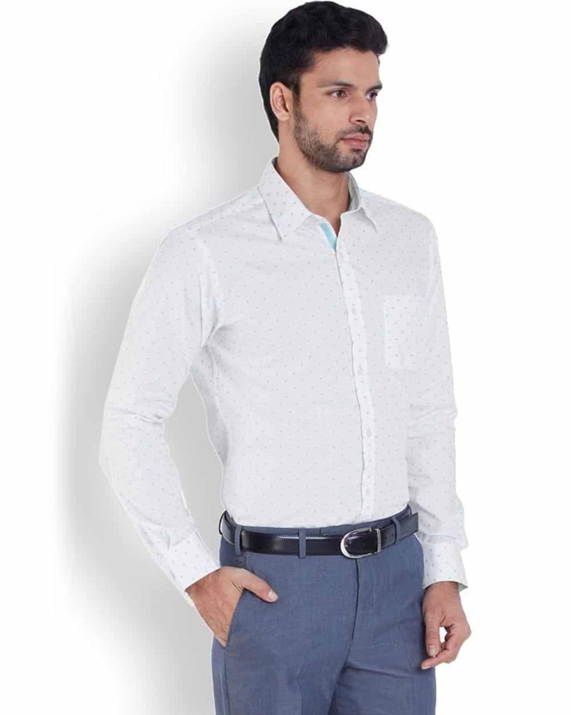 Park Avenue  White Super Slim Fit Shirt