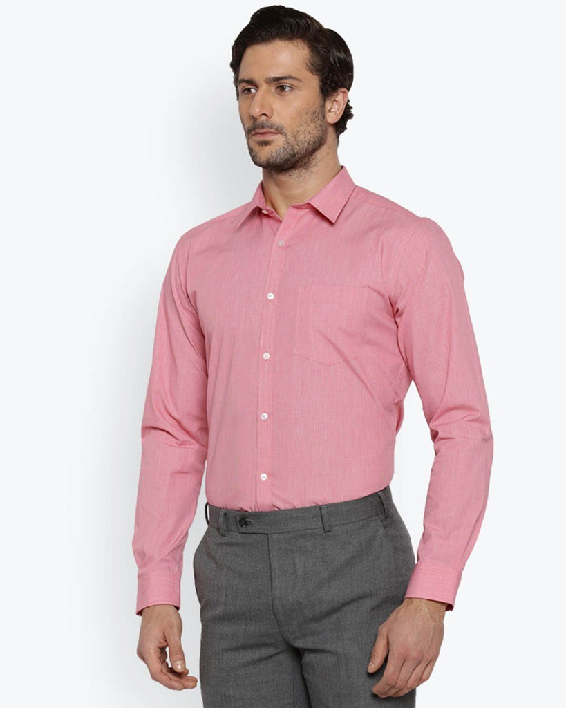Park Avenue Medium Red Super Slim Fit Shirt
