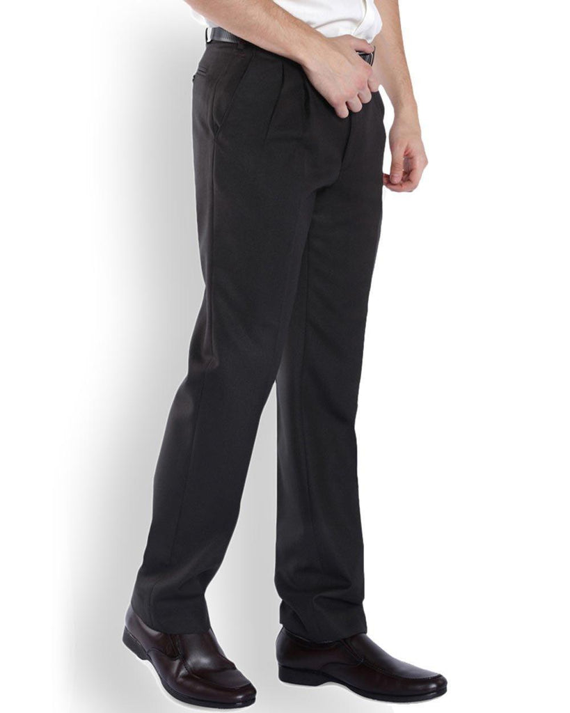 Park Avenue  Brown Regular Fit Trouser