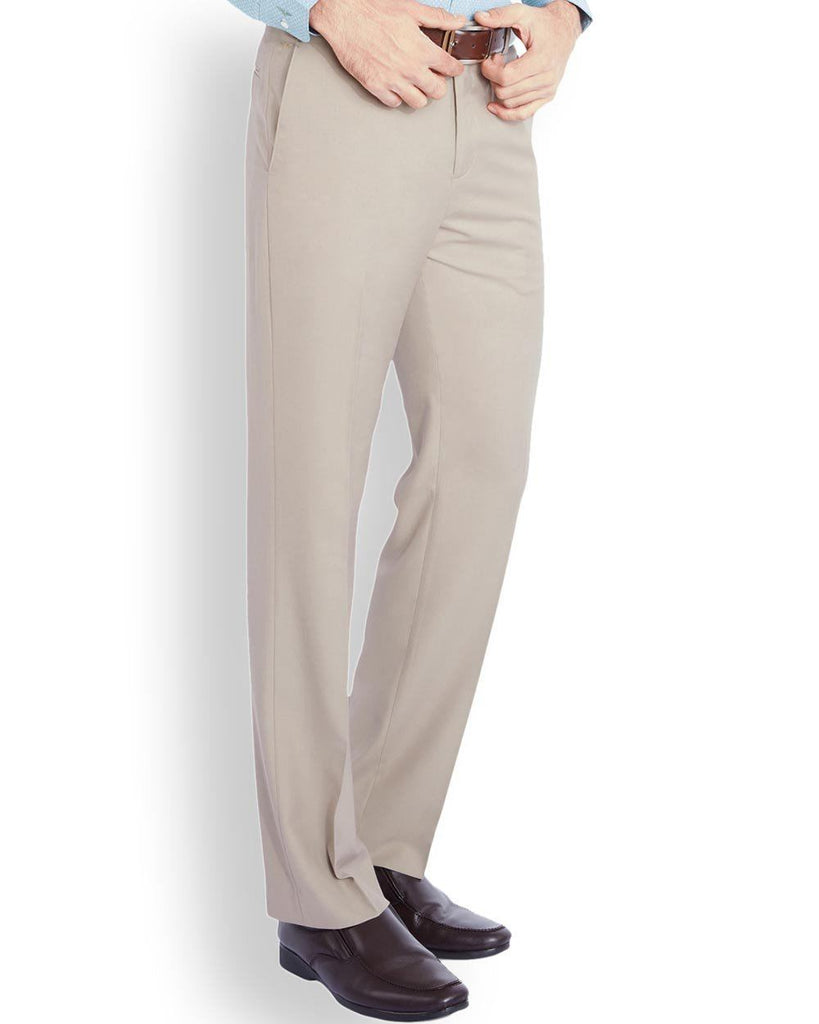 Park Avenue  Beige Slim Fit Trouser