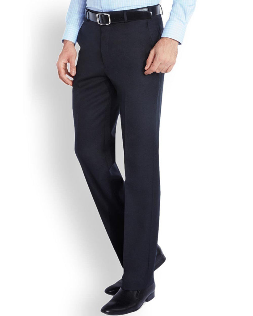 Park Avenue  Blue Regular Fit Trouser