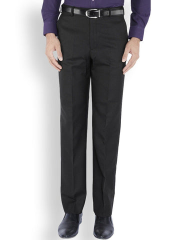 Park Avenue  Black Regular Fit Trouser