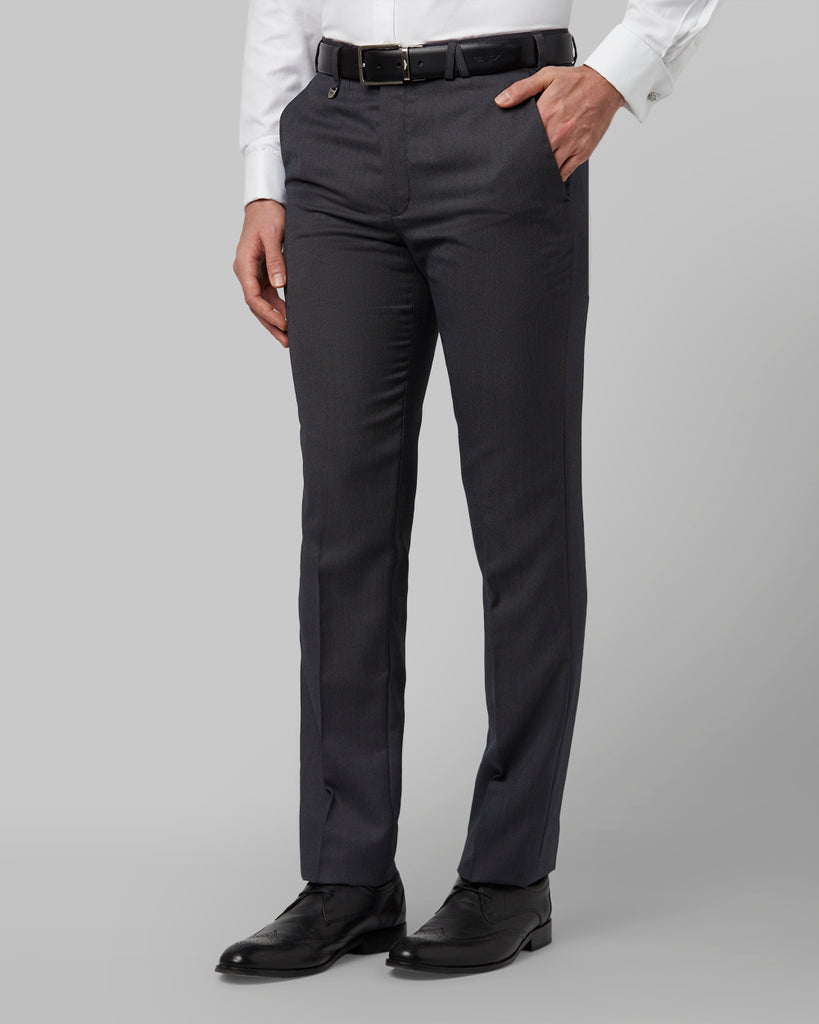 Park Avenue Dark Grey Slim Fit Trouser
