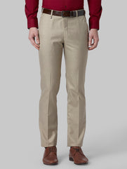 Park Avenue Medium Brown Super Slim Fit Trouser