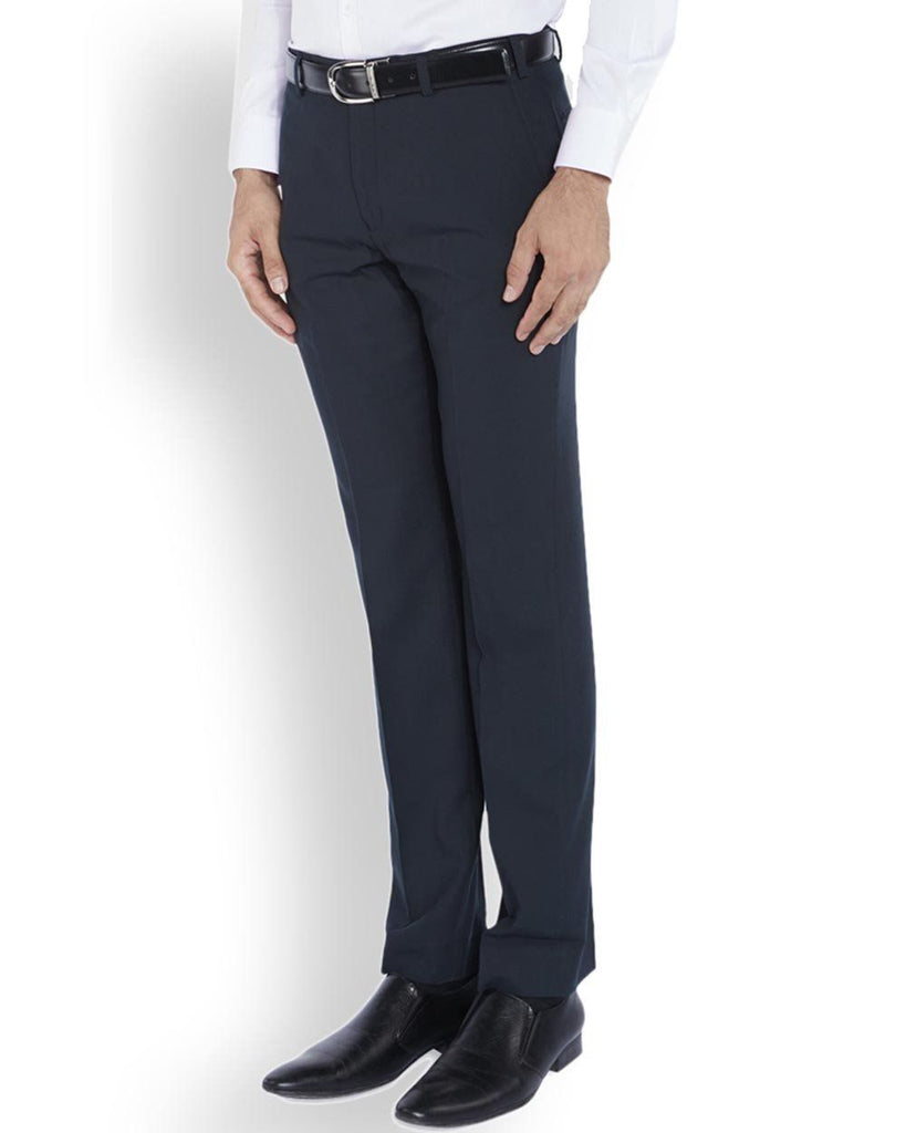 Park Avenue  Blue Smart Fit Trouser