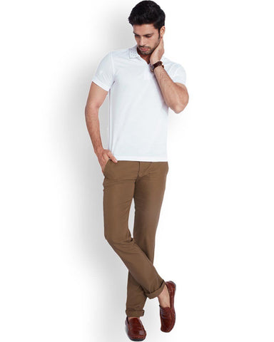 Park Avenue  Brown Super Slim Fit Trouser
