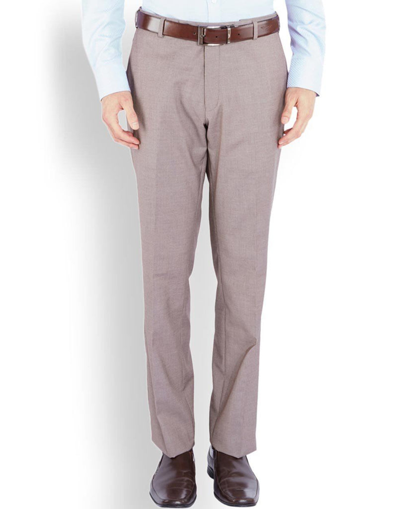 Park Avenue  Brown Smart Fit Trouser