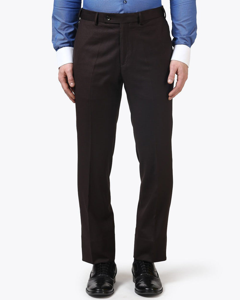 Park Avenue Dark Brown Smart Fit Trouser