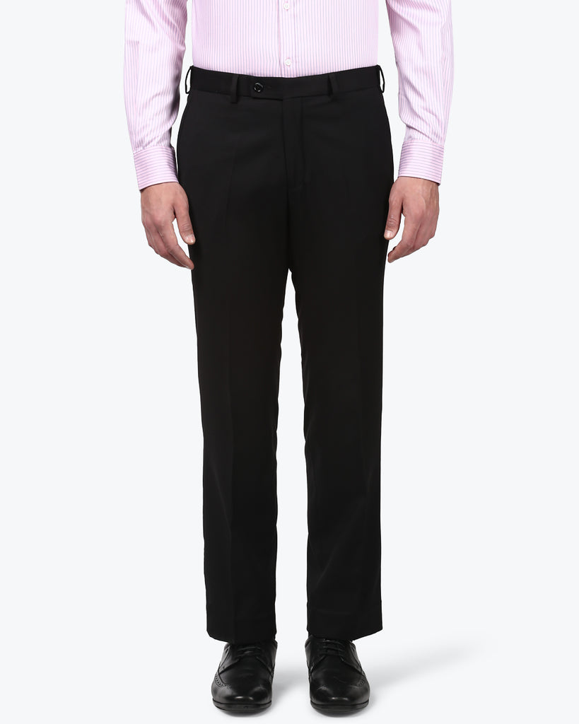 Park Avenue Black Smart Fit Trouser