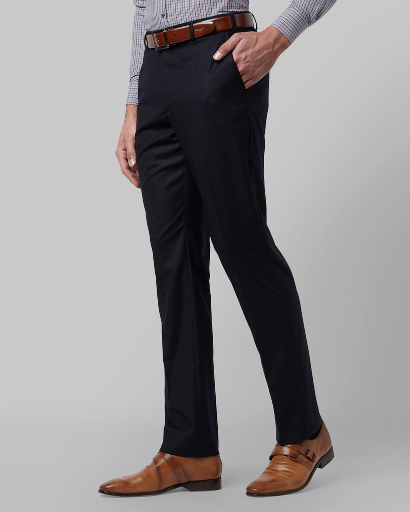 Park Avenue Fancy Blue Regular Fit Trouser