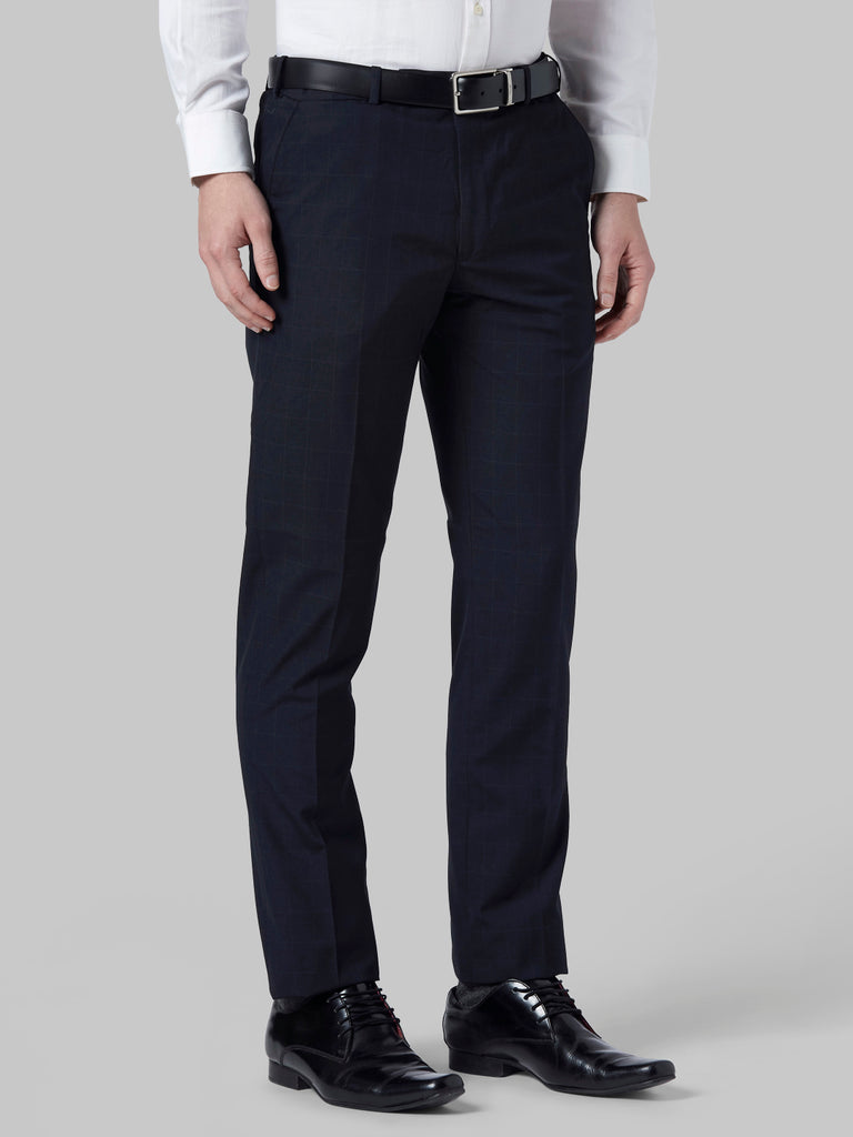 Park Avenue Dark Blue Smart Fit Trouser
