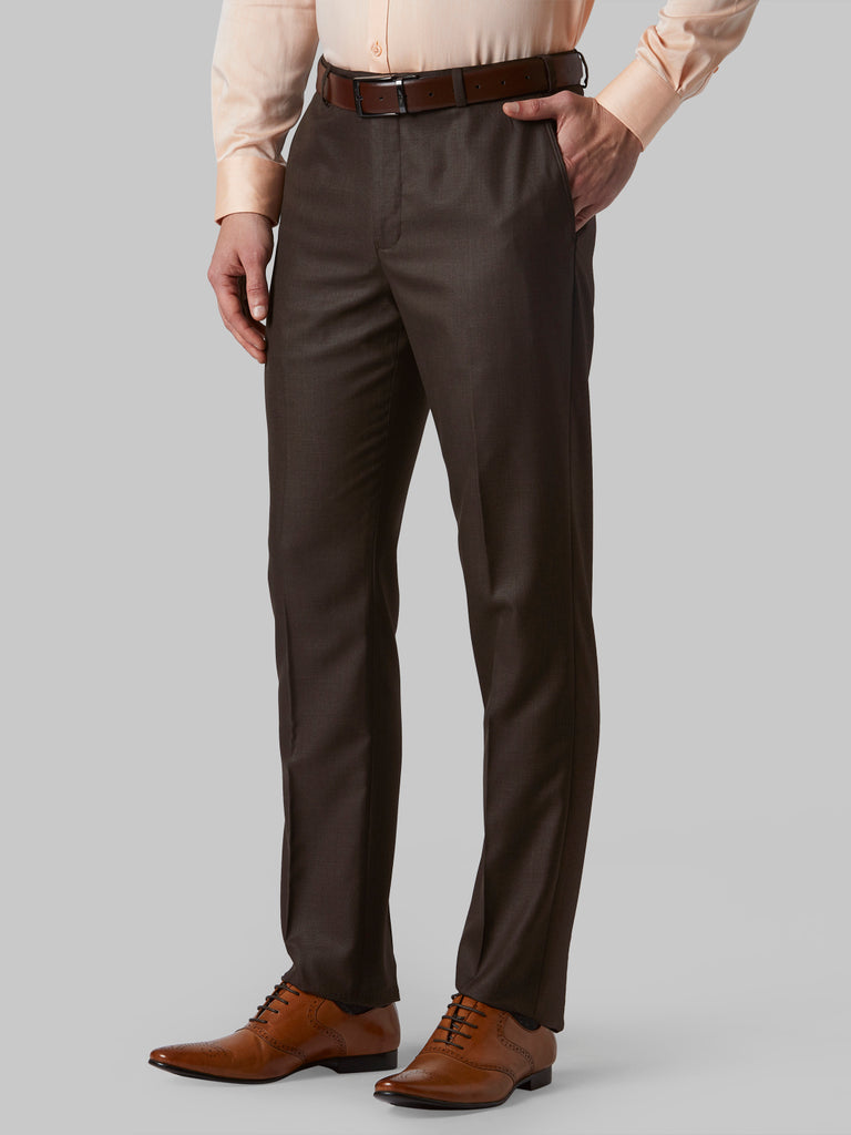 Park Avenue Medium Brown Regular Fit Trouser