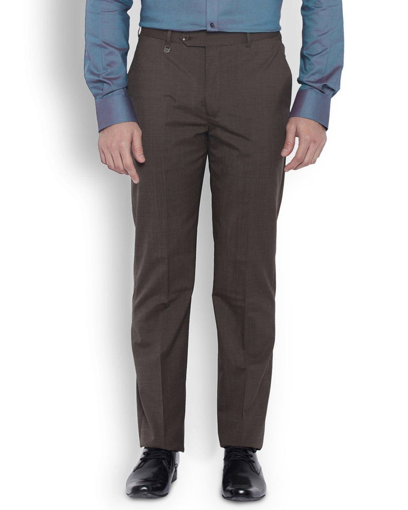 eac0edb2b5 Park Avenue Men Wool Blend Brown Slim Fit Trouser