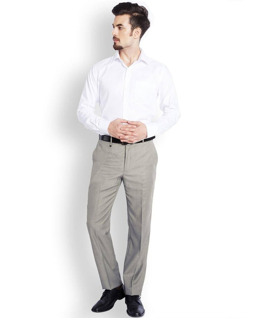 Park Avenue  Grey Slim Fit Trouser