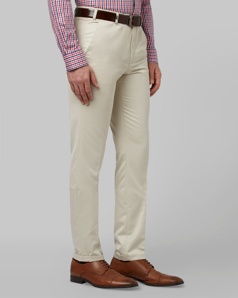 Park Avenue Light Fawn Regular Fit Trouser