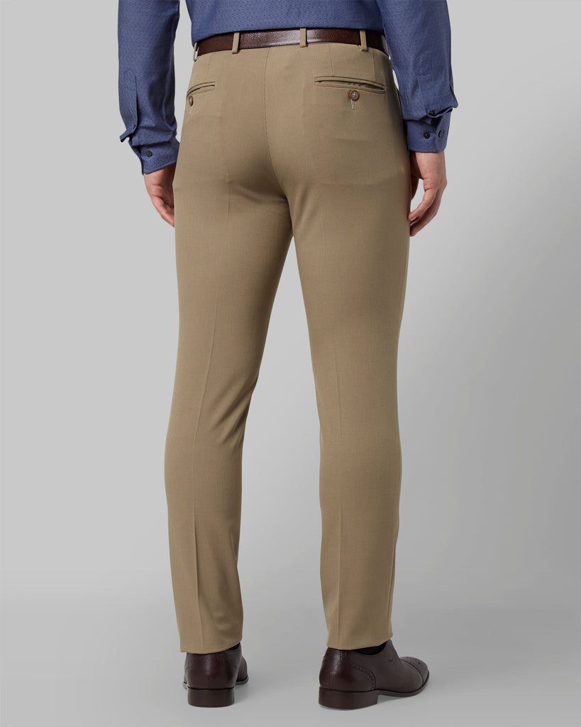 Park Avenue Medium Fawn Regular Fit Trouser