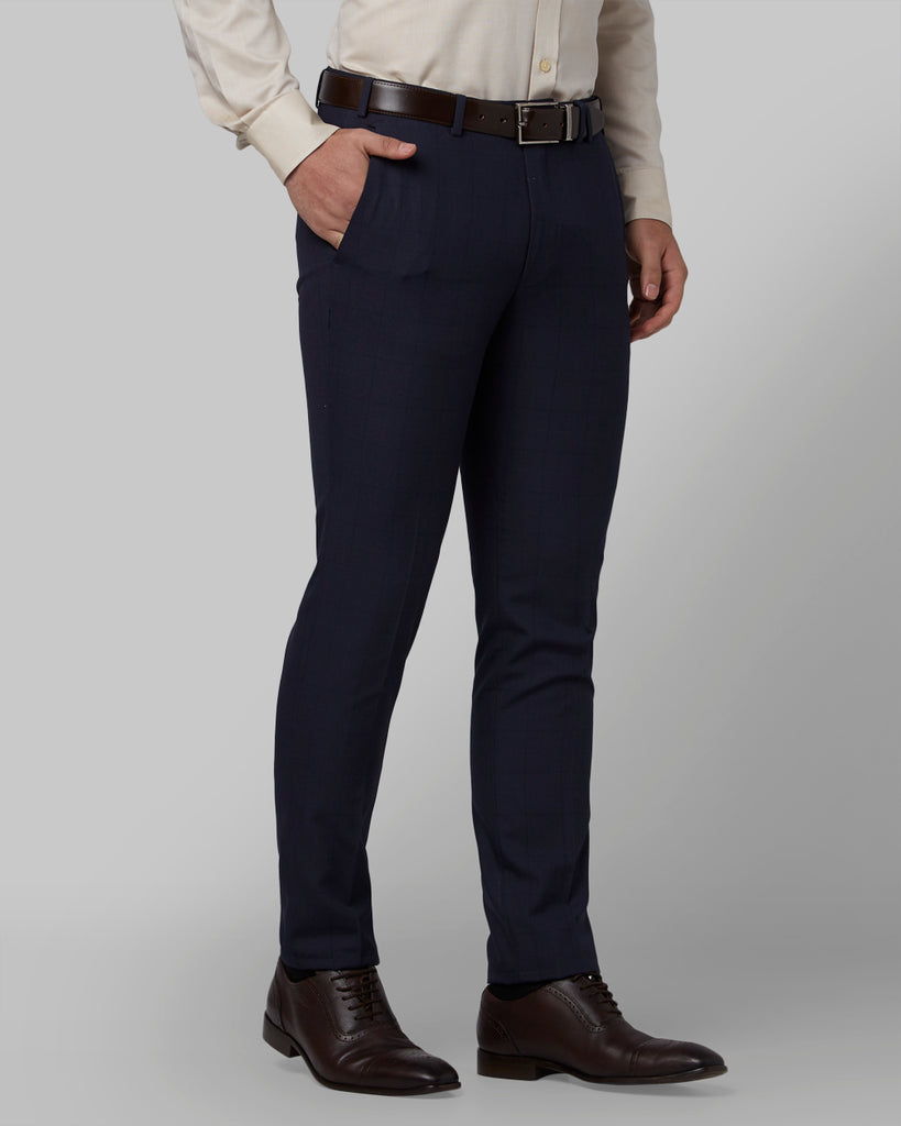 Park Avenue Medium Blue Regular Fit Trouser