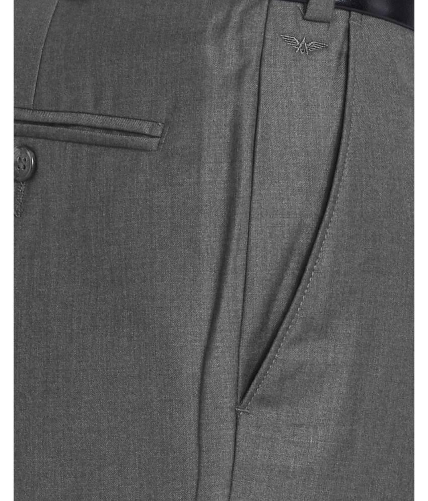 Park Avenue  Grey Super Slim Fit Trouser